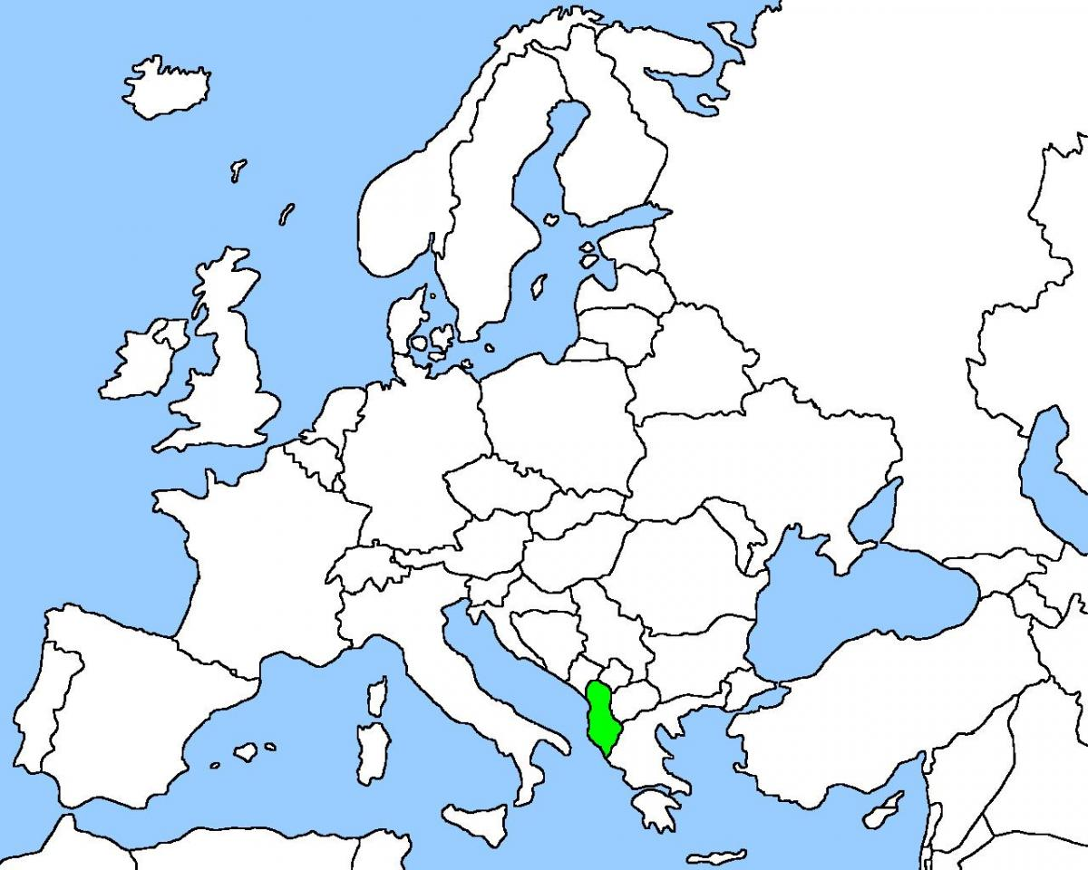 map of Albania map location