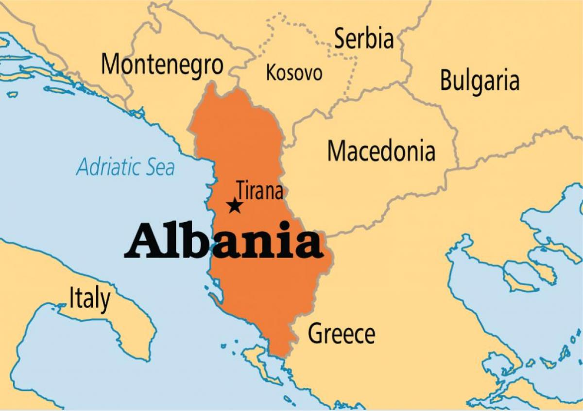 map showing Albania