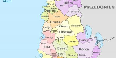 Map of Albania political