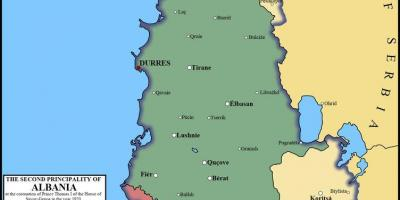 Map of durres Albania